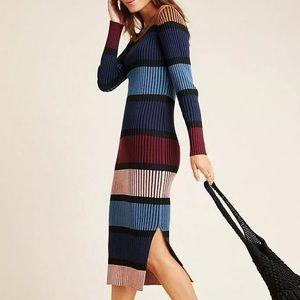 Anthropologie Dolan Lorna Stripe Sweater Dress